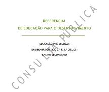 Referencial de Educação para o Desenvolvimento em Consulta Pública