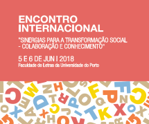 Sinergias para a transformação social – 5 e 6 de junho, FLUP