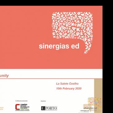 """Sinergias ED facilita webinar sobre """"Parcerias na área da educação e produção de conhecimento"""""""