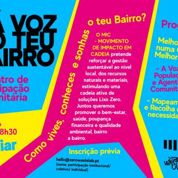 Projeto MIC promove encontro de participação comunitária do Lumiar e Alta de Lisboa